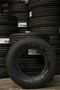 Toyo Tires Open Country A/T at Mascaró-Porter warehouse in Puerto Rico