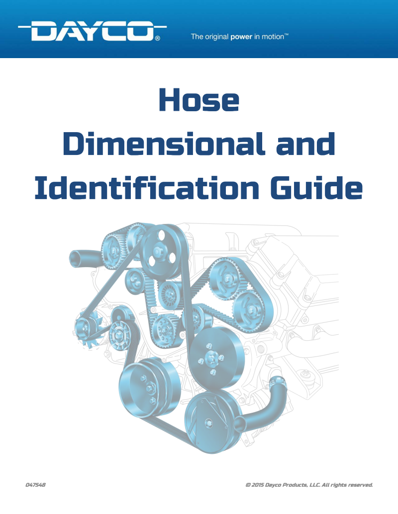 Dayco Products Hoses Guide 2015