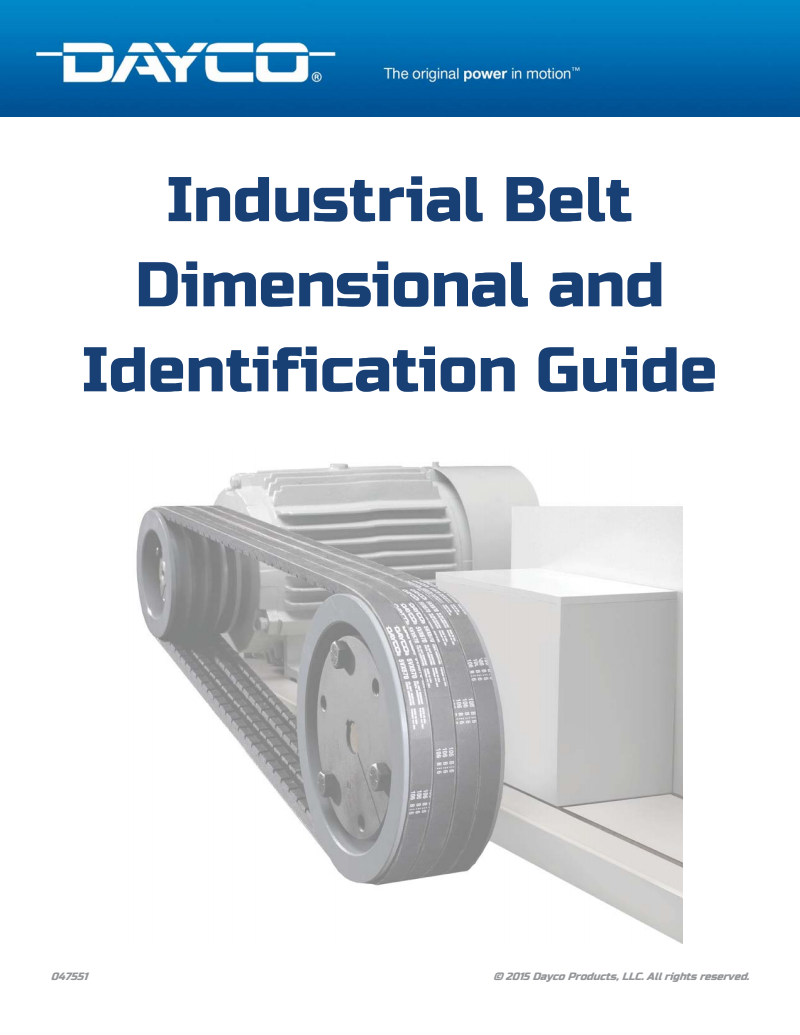 Dayco Products Industrial Belts Guide 2015